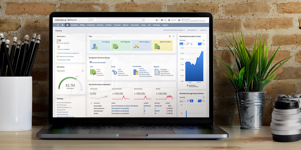 NetSuite Accounts Receivable dashboard speeds up the process of KYC